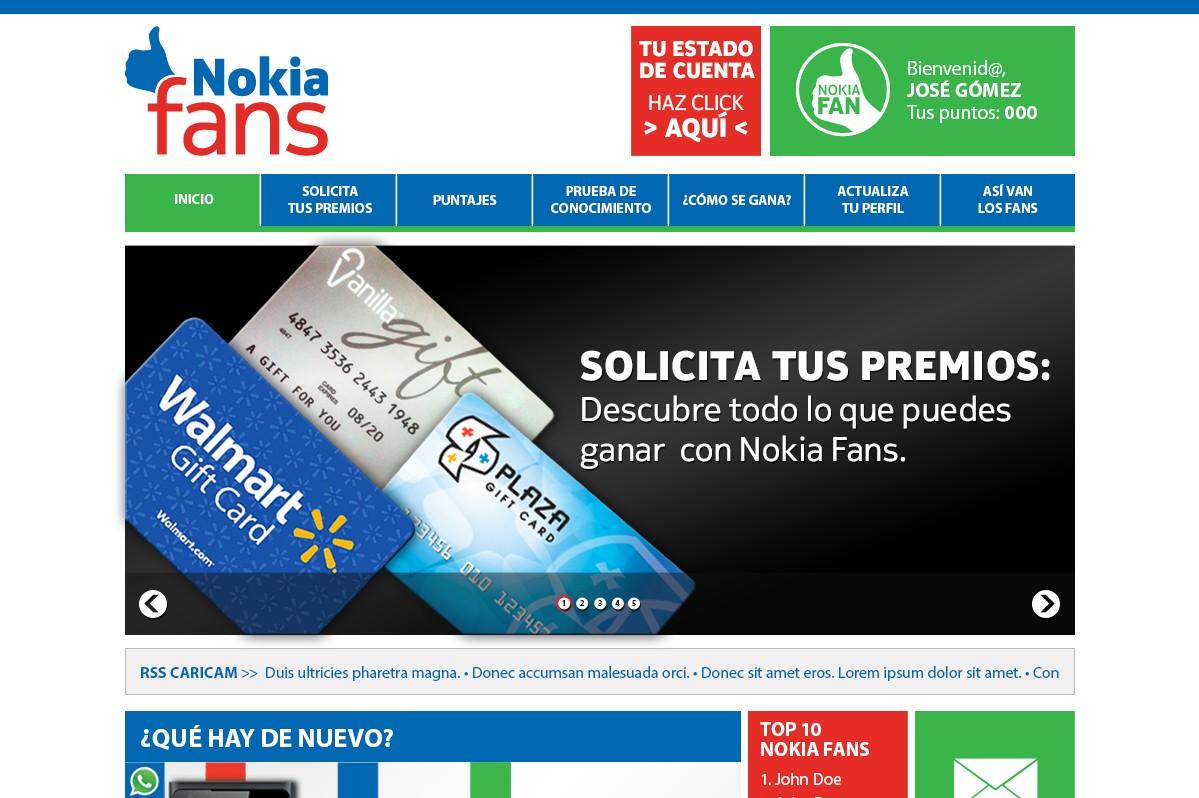 Diseño Y Maquetación Web Para Nokia Fans