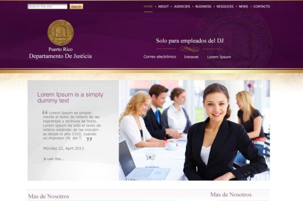 Diseño Web Para Departamento De Justicia De Puerto Rico