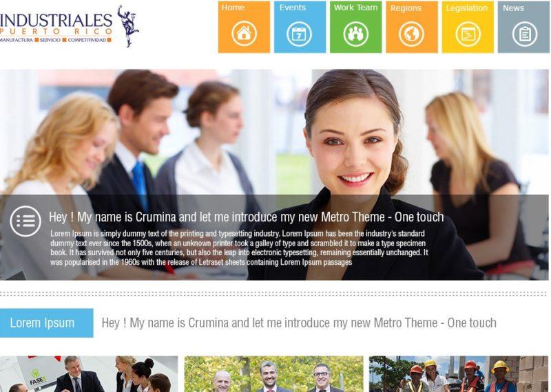 Diseño Y Desarrollo Web Para La Pagina De Industriales De Puerto Rico